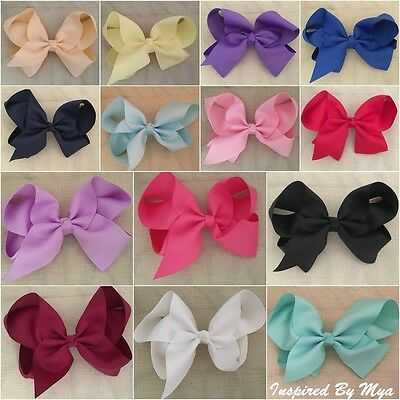 """Girls Hair Bow Clip Womens Bow Large 6"""" School Dance Party Hair Accessories Big"""