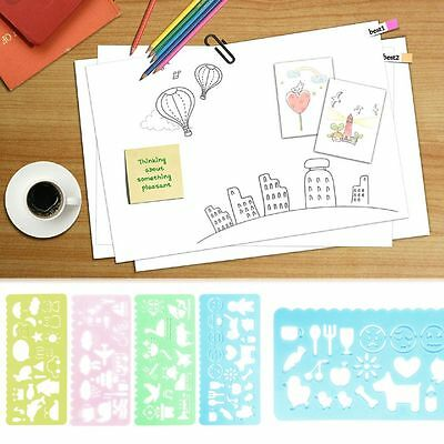 4pcs Picture Drawing Template Stencils Rulers Painting Scrapbooking Card Art DIY