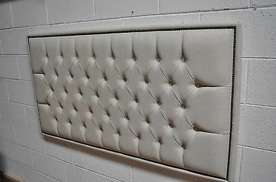 Headboard Deep Buttons Chesterfield Style With Decorative Nails