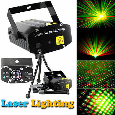 Mini LED RG Laser Projector Stage Lighting Lamp DJ Disco Party Club Light Hot