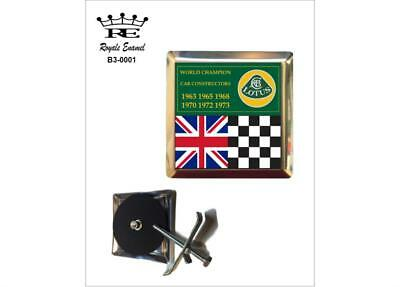 Royale Car Badge & Fittings - LOTUS CARS CONSTRUCTORS CHAMPIONS - B3.0001