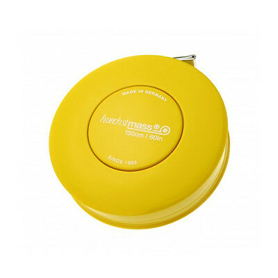 Hoechstmass Pocket Roller Tape Measure ROLLFIX 150 cm/60 inches, Yellow colour