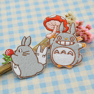 My Neighbour Totoro Embroidered Applique DIY Cloth Patches Sewing on Badge