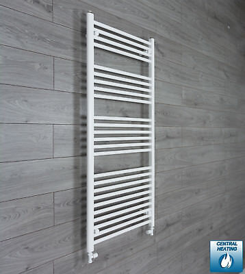650 mm Wide 1400 mm High Flat White Heated Towel Rail Radiator Bathroom Kitchen