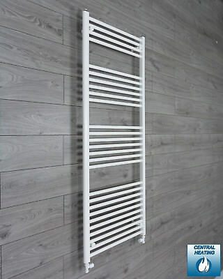 650 mm Wide 1600 mm High Flat White Heated Towel Rail Radiator Bathroom Kitchen