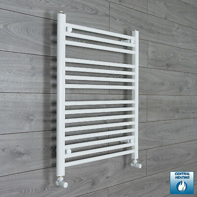 700 mm Wide 800 mm High Flat White Heated Towel Rail Radiator Bathroom Kitchen