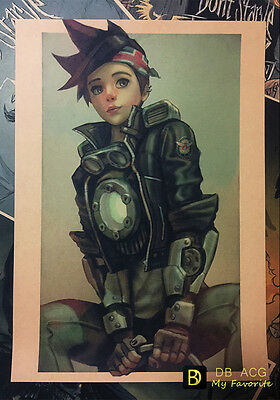 Overwatch Tracer Vintage Style Home Decor Poster Wall Mural Painting 42*29.7cm