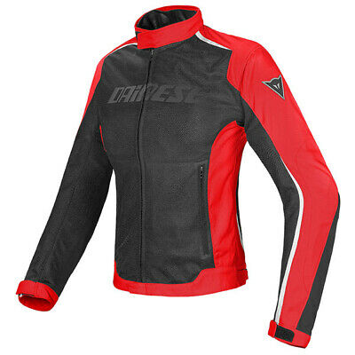 Dainese Hydra Flux Lady D-Dry Waterproof Motorcycle Jacket - Black/Red/White
