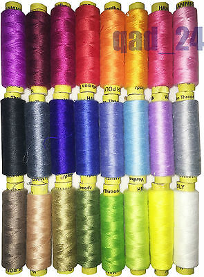 SINGLE COLOUR - Quality Sewing Thread Yarn Poly Hammer Reel Spool Pure 180 Metre