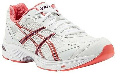 Asics Gel Rink Scorcher Womens Lawn Bowls Shoes White/pink/deep Violet Rrp $140