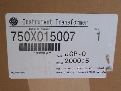 Ge Current Transformer 2000:5 Jcp-0 750X015007 New