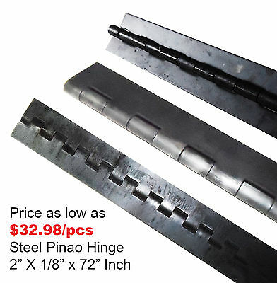 "Steel Piano Hinge 2"" x 1/8"" x 72"", 3 PCS"