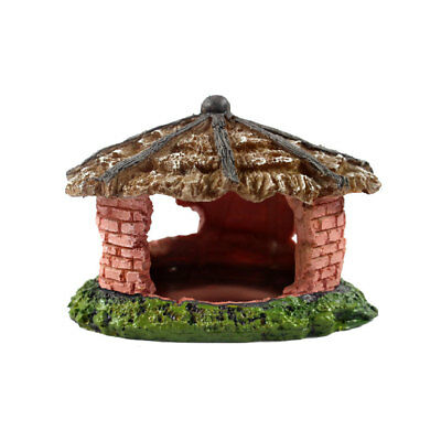 House Vivarium Reptile Decoration Aquarium Fish Tank Ornament Lizard Cave