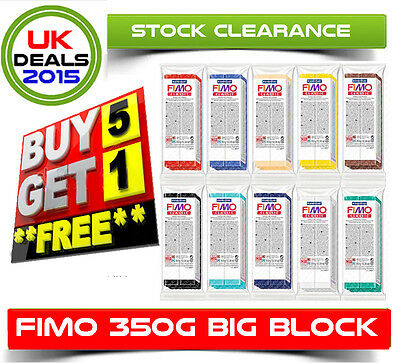 Fimo Soft 350g Polymer Modelling Clay Oven Bake Moulding Cheapest on ebay