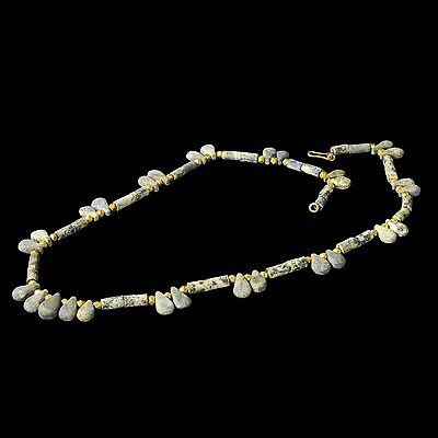 Aphrodite- Ancient Near Eastern Lapi Lazuli And Gold Necklace