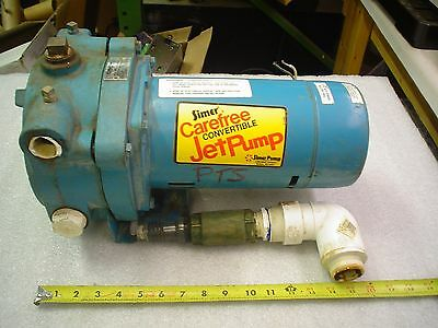 Simer 2805E jet pump 115v 1/2hp 1 1/2npt in 1 1/4npt out- used 60 day warranty