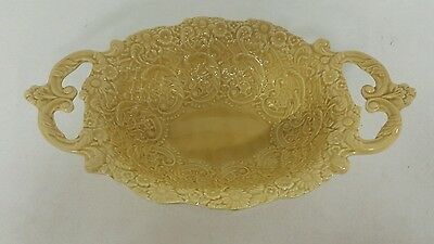 Oval Yellow Vegetable Serving Bowl Handmade, Hand Painted in Italy by Pizzato