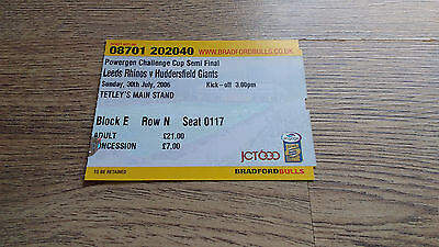 Leeds v Huddersfield 2006 Challenge Cup Semi-Final Used Rugby League Ticket