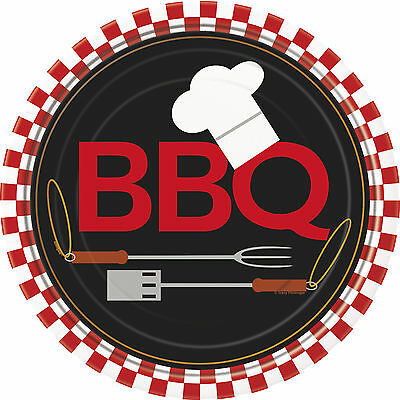 Backyard BBQ Plates - Grill Barbeque Party Tableware