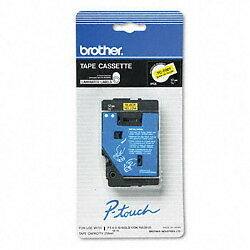 "Brother 1/2"" (12mm) Black on Yellow P-touch Tape for PTIII, PT-III Label Maker"