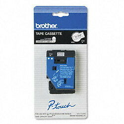 "Brother 3/8"" (9mm) Black on White P-touch Tape for PT10, PT-10 Label Maker"