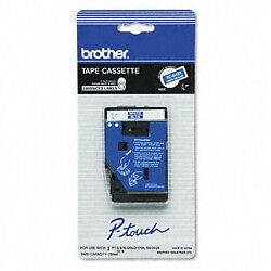 "Brother 3/8"" (9mm) White on Blue P-touch Tape for PT10, PT-10 Label Maker"