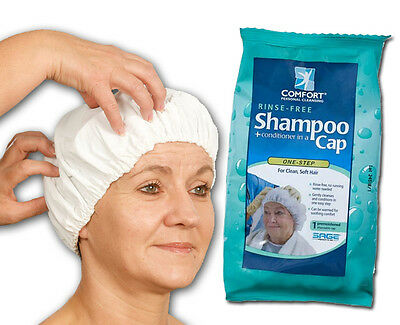 Sage Products NO WATER Rinse-Free Shampoo Cap Care Giver Home Health Bed Bound