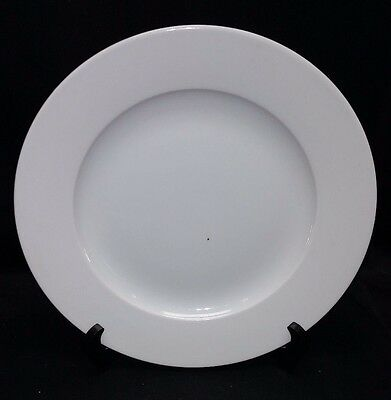 """Royal Mosa Holland Clear White Ceramic Dinner Plate 10.5"""" Width"""