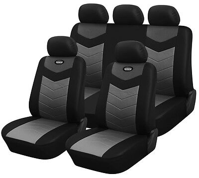Synterior Brand, Synthetic Leather-Like Car Seat Covers Onyx Black
