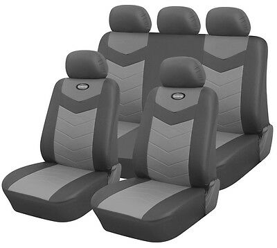 Synterior Brand, Synthetic Leather-Like Car Seat Covers Slate Gray
