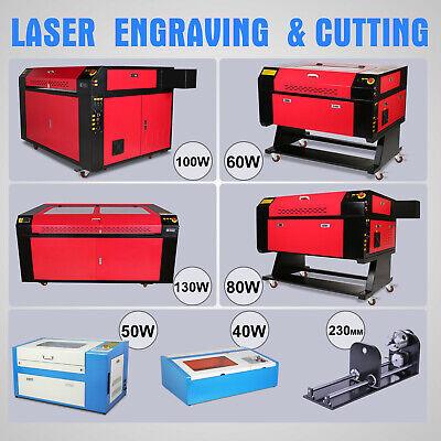 40W/50W/60/80W CO2 Laser Engraving Machine Cnc Rotary Axis Laser Engraver Cutter