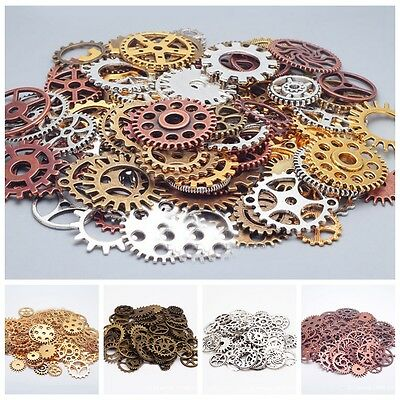 1Bag Pieces Old Steampunk Pocket Wrist Watch Parts Gears Cogs Wheels Parts Craft