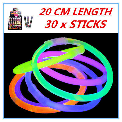 30 X Glow Sticks - Party Wedding Event Birthday Celebrate Concerts Camping