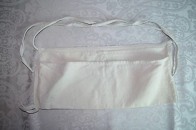 Cotton Twill Two-Pocket Handyman's or Gardener's Apron with Tool Loop