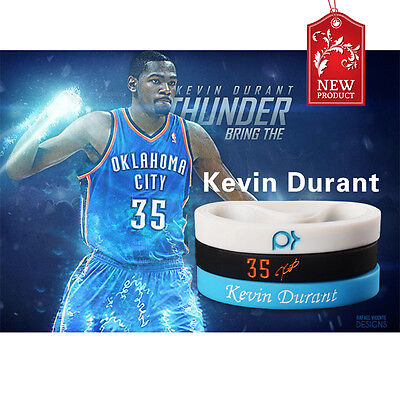 Kevin Durant Unisex Silicone Bracelet Rubber Basketball Sport Wristband*CA*