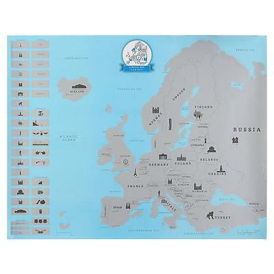 Scratch Off Europe Map Poster Personalized Travel Vacation Personal Log