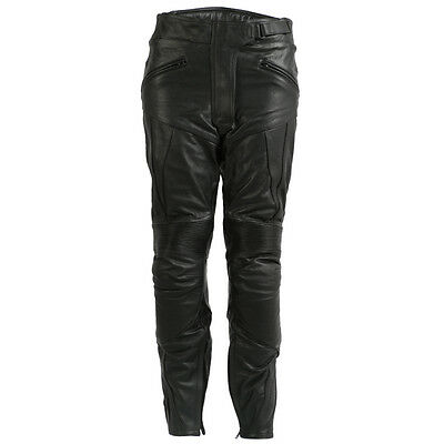 New Ladies Leather Touring Motorcycle / Motorbike Trousers / Pants CE Armoured