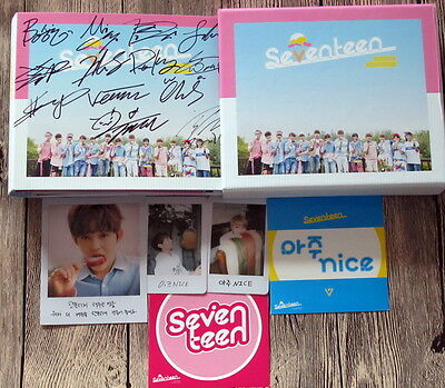 Seventeen autographed 2016 The follow-up album FIRST Love & Letter CD korean ver