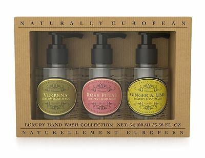 Naturally European 3x 100ml Luxury Hand Wash Collection Gift Set