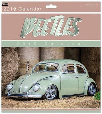 2017 Square Month To View Photo Wall Calendar Bugs - Blue Beetle Car