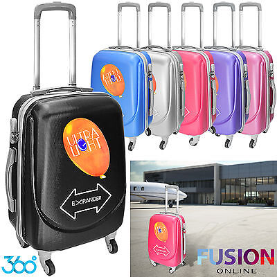 Airline Hard Case Cabin Size Hand Luggage Carry On Cabin Bag Suitcase Tsa Lock
