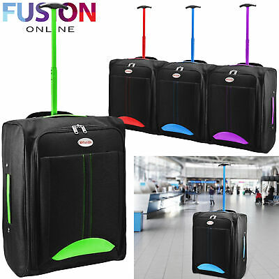 Cabin Travel Bag Wheeled Lightweight Suitcase Hand Luggage Trolley Holdall New