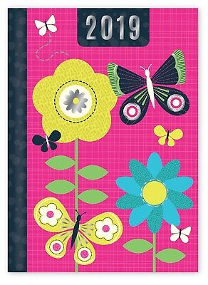 2016 Small Pocket Week To View Hardback Fashion Diary Vintage Florals Bird Tower
