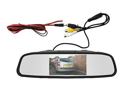 "Car, Van LCD 4.3"" Mirror Monitor, Display, Screen For Use With Reversing Camera"