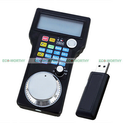 HB04 Wireless Remote Handwheel Controller MPG Pendant for Milling Engraving