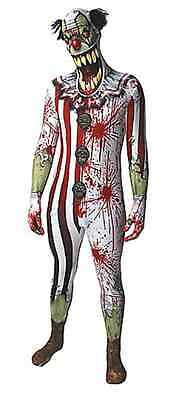 Unique Adult Scary Circus Clown Skin Suit Horror Halloween Costume For Men