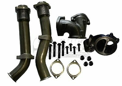 Ford 7.3L Turbo Diesel Up Pipes with Bellows Kit For 1999.5-2003 GP 679-005