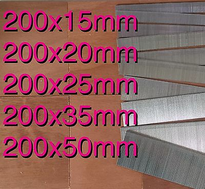 1000 Galvanized mixed 15mm/20mm/25mm/35mm/50mm Brad Nails 18 Gauge/18g