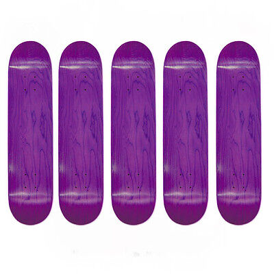 Easy People Skateboards SB-1 Semi-Pro 5 Blank Skateboard Deck Purple 8.0 + Grip