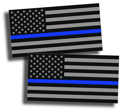 2x Support Police USA Flag Blue Line 2nd Amendment 2A Sticker Decal Lives Matter